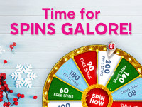 Get up to 200 free spins with our Xmas wheel!