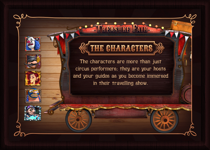 Treasure Fair The Characters