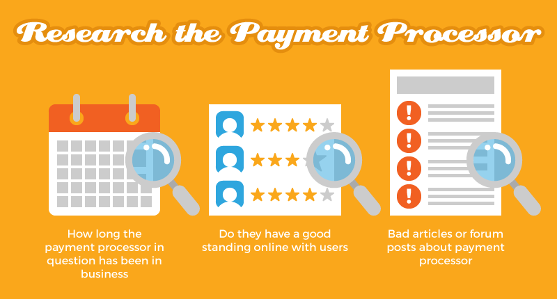 Research the Payment Processor
